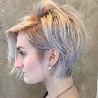 long blonde pixie cut for short thin hair