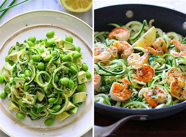 Shrimp Recipe  Lighter Shrimp Scampi over Zucchini Noodles