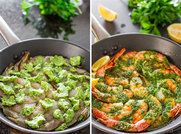 One-Pan Shrimp with Garlic and Parsley Butter