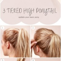 3 Tiered High Ponytail Tutorial