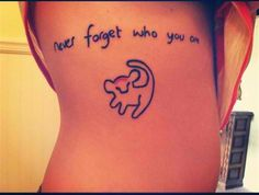 """Never forget who you are"""