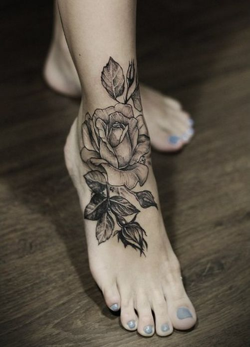 10 Foot Rose Tattoo Designs