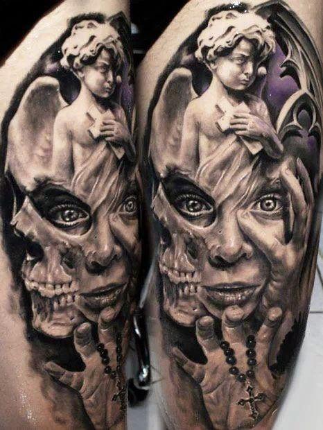 Angel and Evil Tattoo