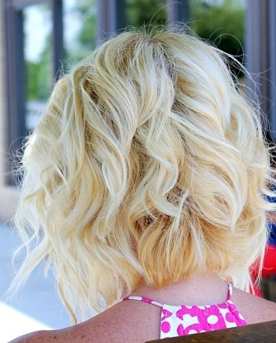 Angled Curly Bob Haircut