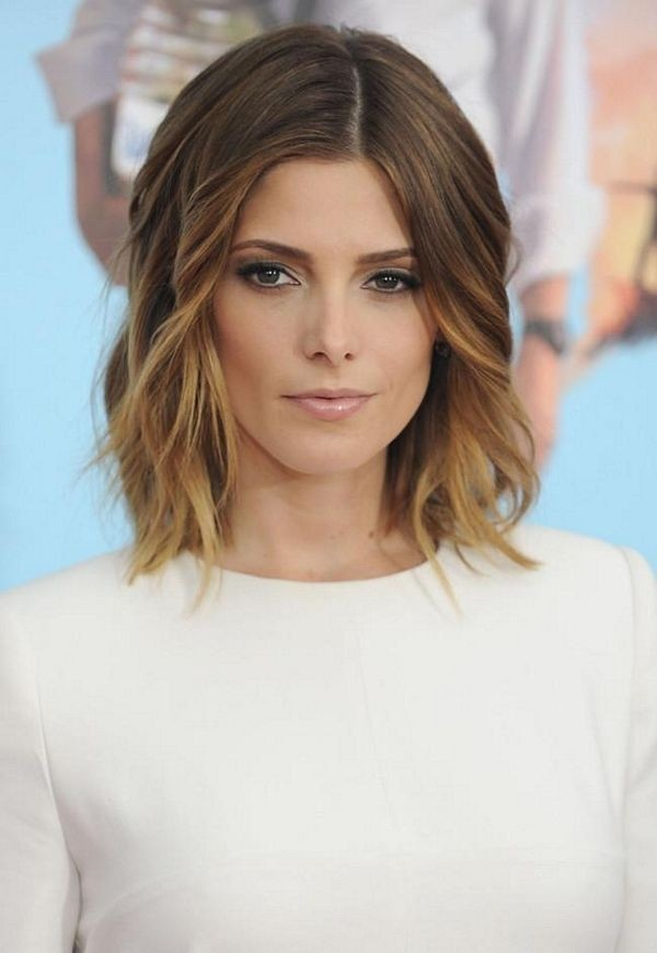 Ashley Greene Medium Bob Hairstyle for Ombre Hair