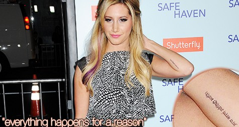 Ashley Tisdale's tattoos on the arms