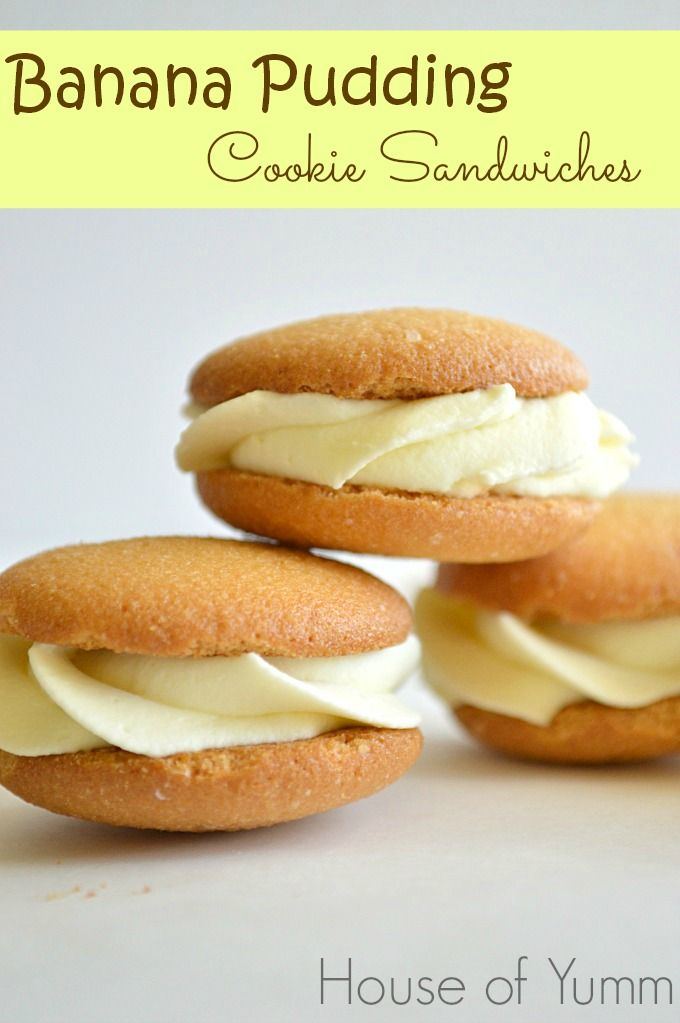 Banana Pudding Sandwiches