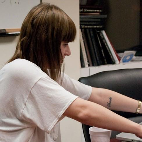 Bethany Cosentino tattoos – left inner forearm
