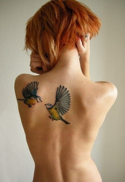 Bird Tattoo on Shoulder