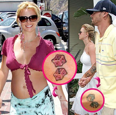 Britney Dice Tattoo