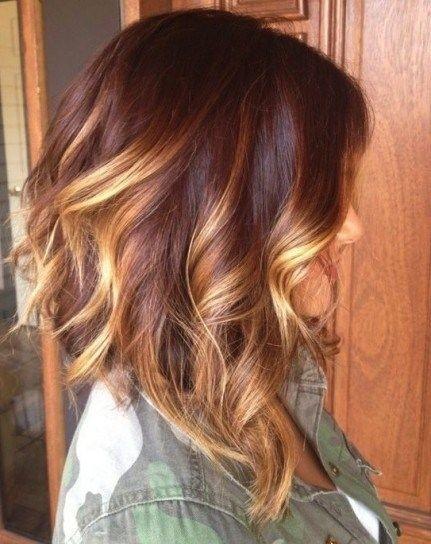 Medium Brown Hair with Blond Highlights