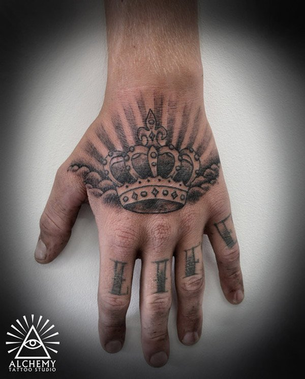 Tattoo Designs For Men Hand: 48 Crown Tattoo Ideas We Love