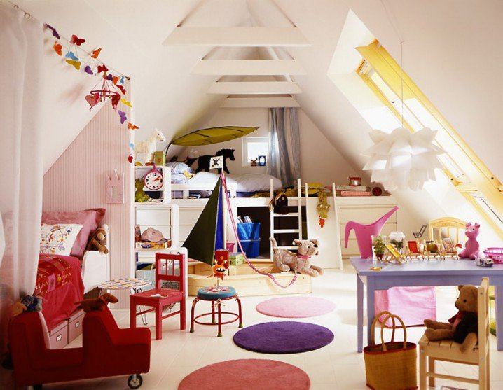 12 pretty attic bedroom designs for your kids pretty designs