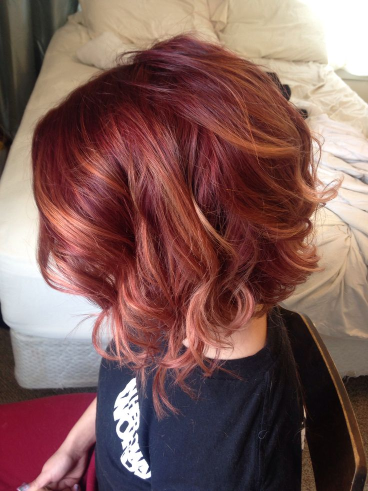 Curly Red Bob