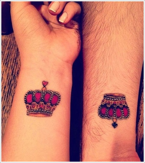 Cute Crown Tattoos for Lovers
