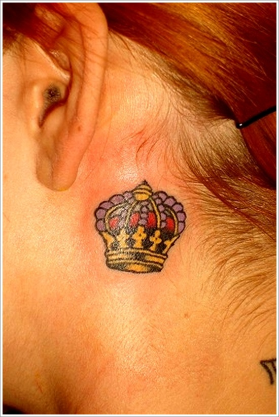 Cute Small Crown Tattoo for Women
