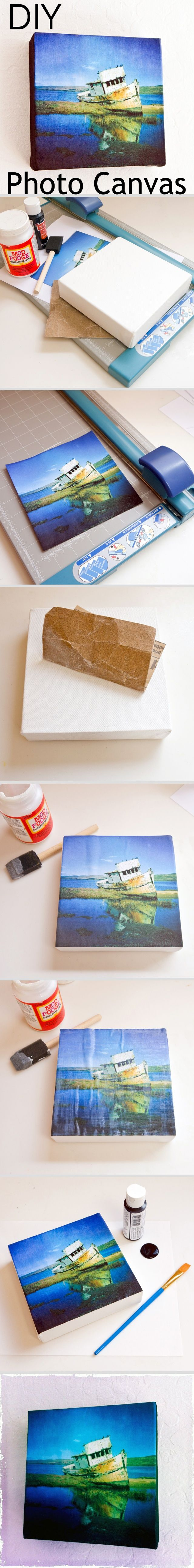 DIY Square Photo Canvas