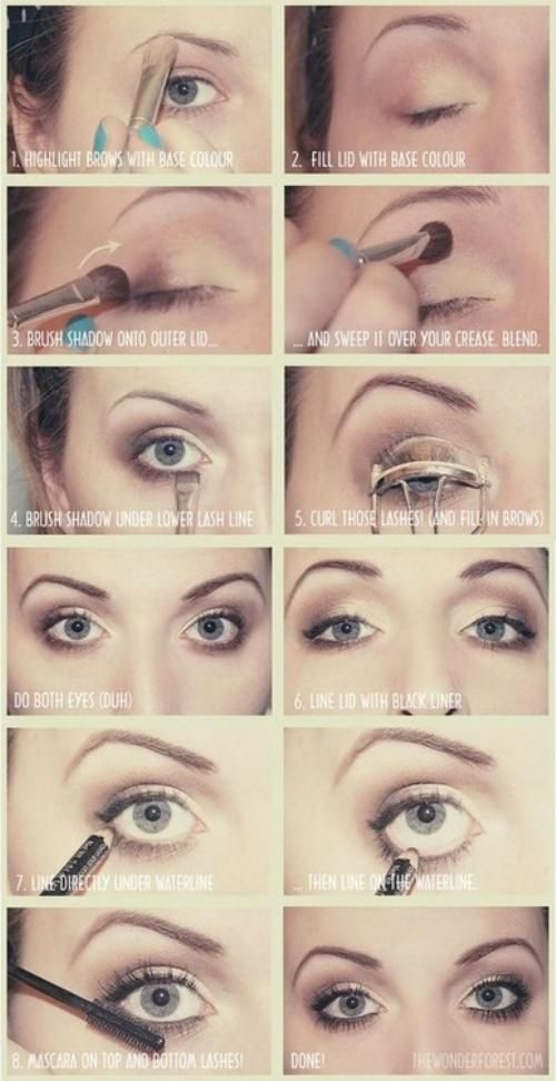 10 Eye Makeup Tutorials for Beginners - Pretty Designs