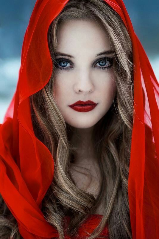 Elegant Red Lips