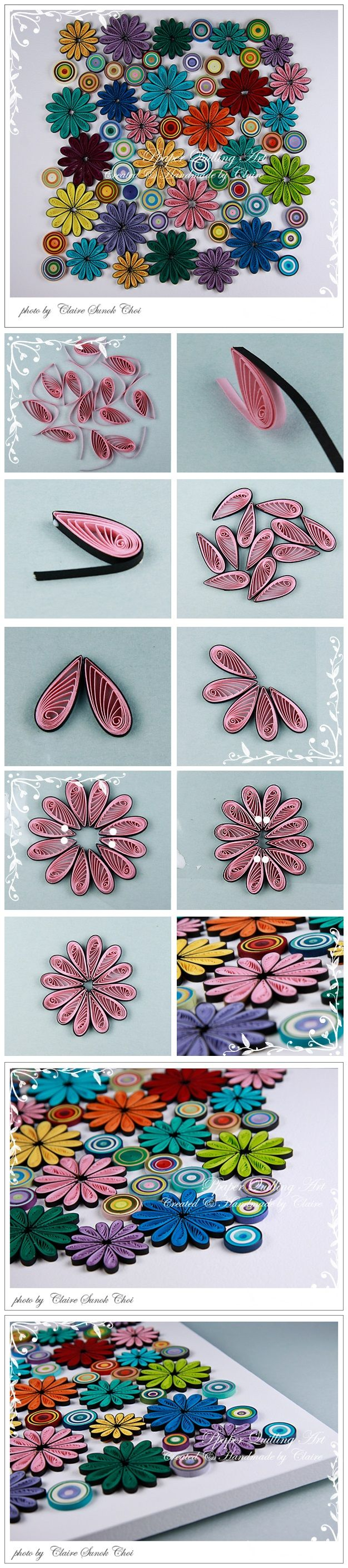 How To Make Wall Decoration With Paper Flowers : Diy projects paper wall art for your rooms pretty designs