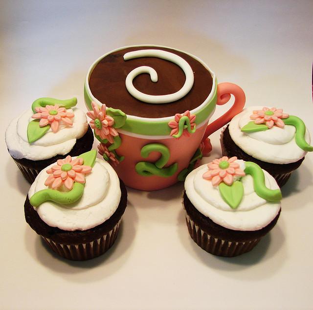 Fresh Floral Cupcake