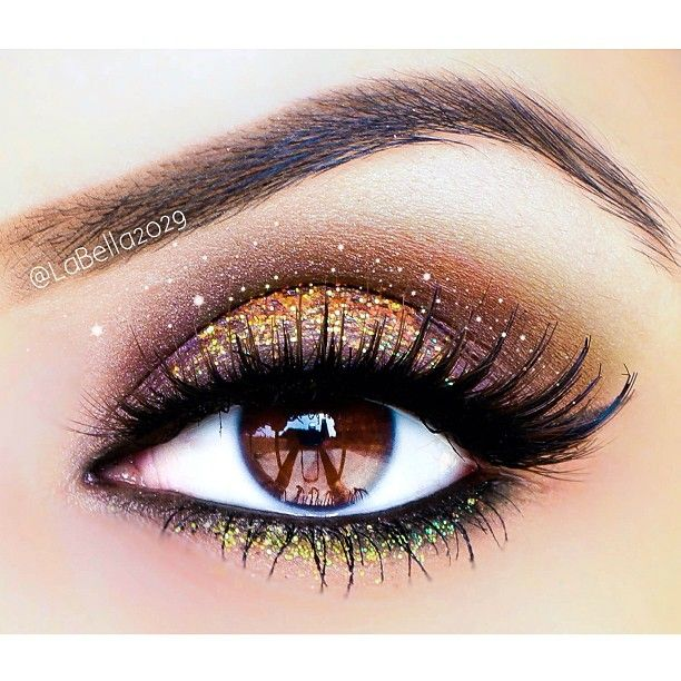 Gold and Green Glitter Eyes
