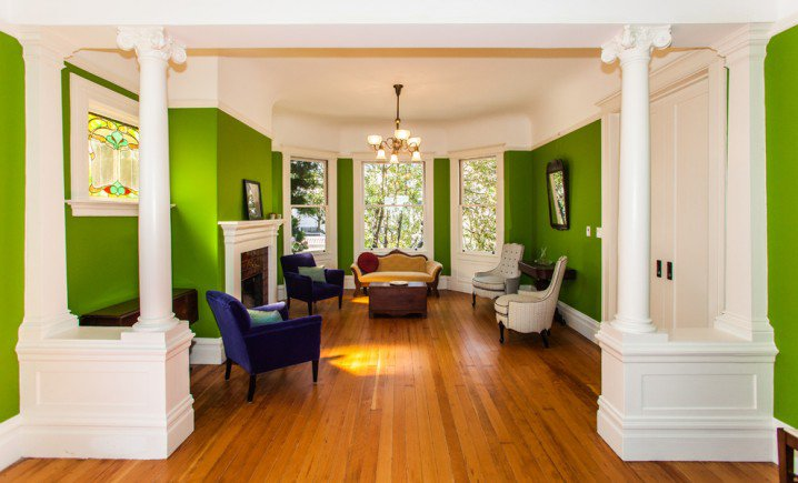 Home Decorating Green Walls Of Living