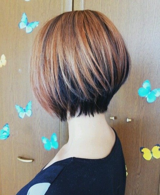 Best Short Hairstyles for 2015: Highlighted Bob with Long Layers ...