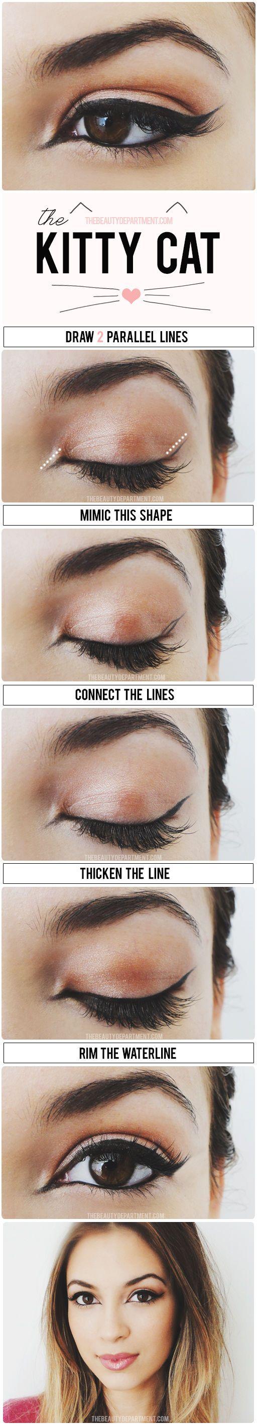 Kitty Eye Makeup