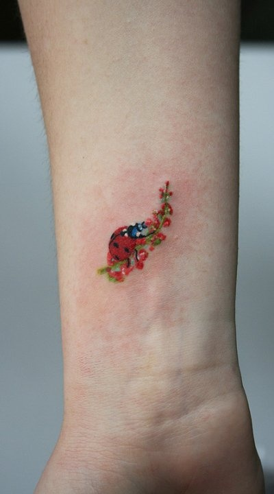Ladybug Wrist Tattoo