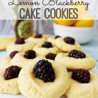 Lemon Blackberry Cake Cookies