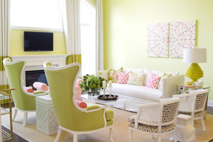 Home decorating green walls of living room pretty designs - Pretty green rooms ...