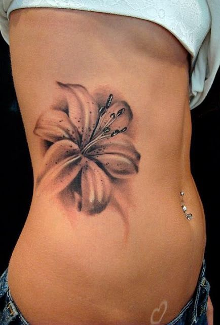 Flower Tattoos For Your Waist Pretty Designs