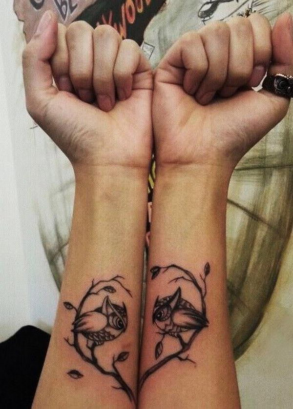 Matching BFF Heart Tattoo