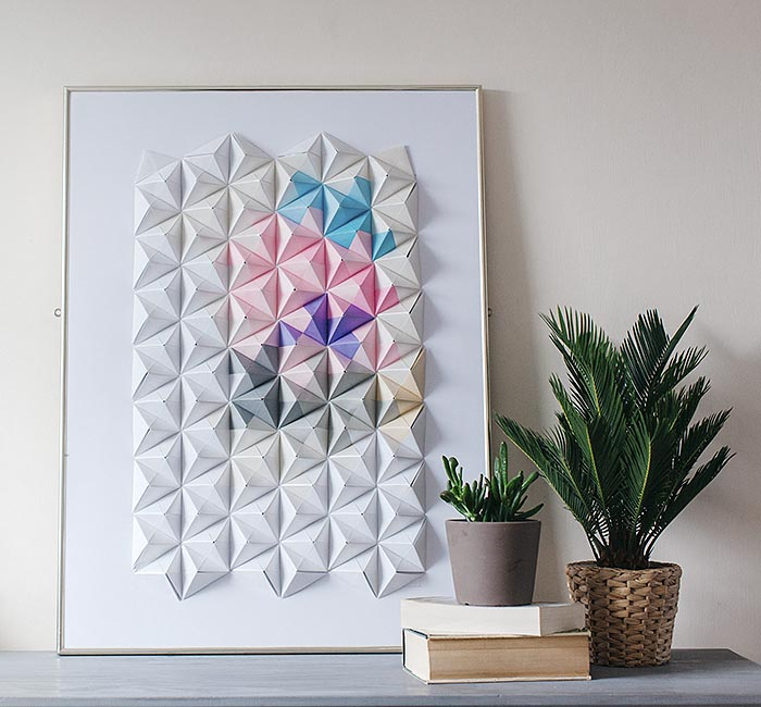 DIY Projects Paper Wall Art For Your Rooms