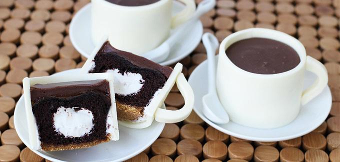 Pretty Coffee Cupcakes