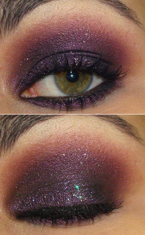 Purple Eyes with Glitter