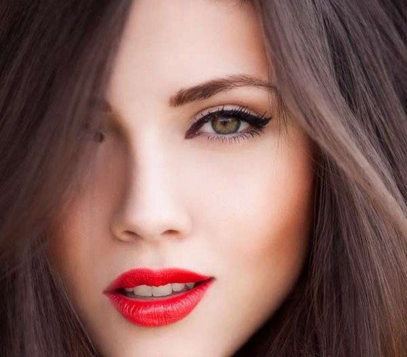 Red Lips and Orange Blush