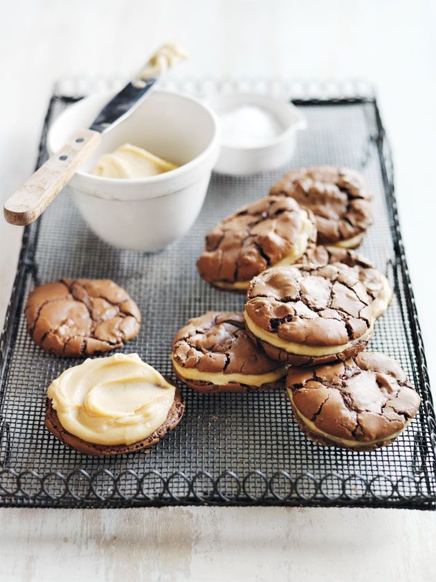 Salted Caramel Brownie Cookie Sandwiches