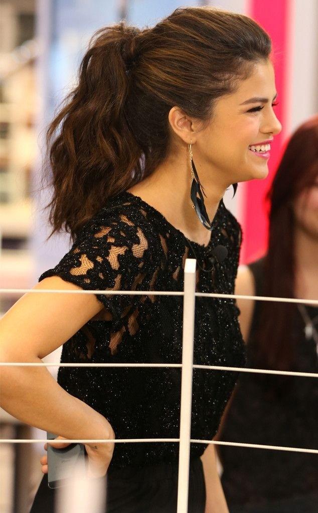 Selena Gomez Stylish Ponytail