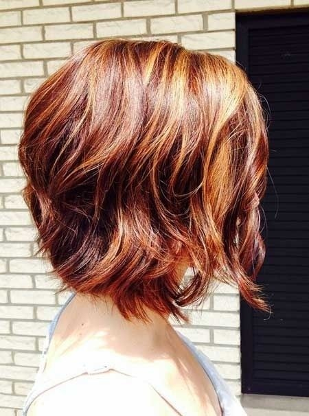 Sexy red wavy bob hairstyle