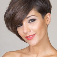 Short Haircut with Asymmetric Part