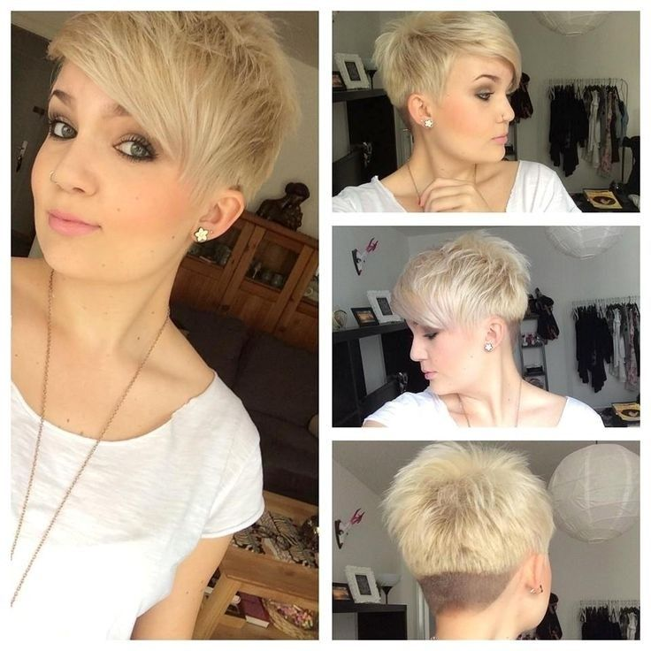 Short Spikey Hair with Side Bangs
