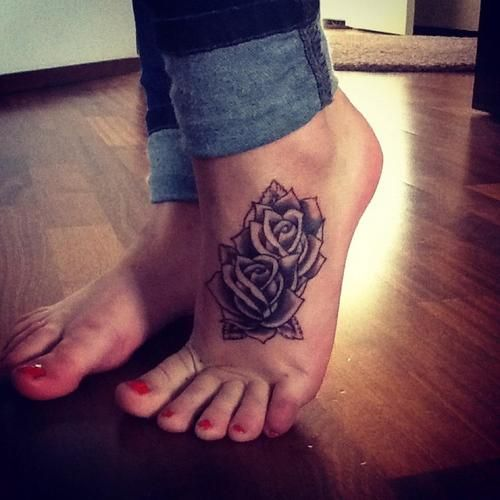 Tattoo Simple Rose: 10 Foot Rose Tattoo Designs