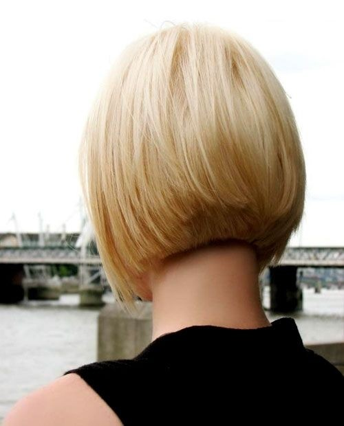 Sleek Bob Hairstyle for Blond Hair
