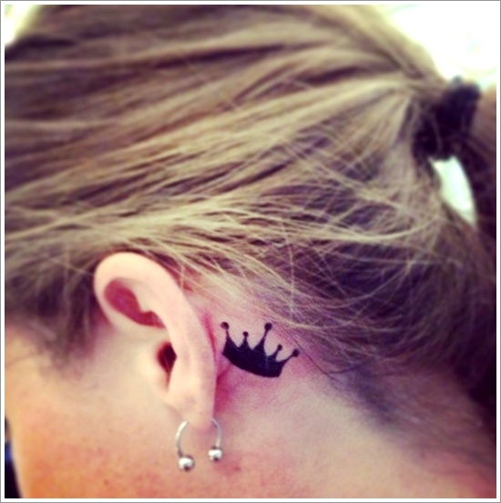 Small Crown Tattoo Design for Girls