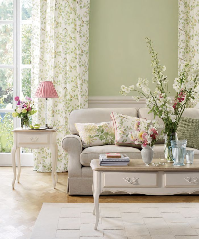 Spring inspired living room