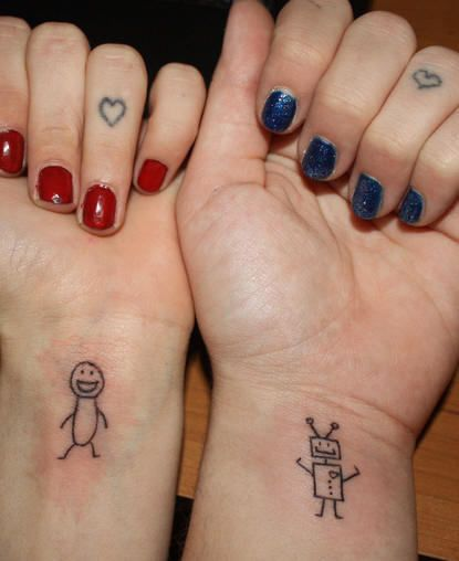 Super Cute Friendship Tattoo
