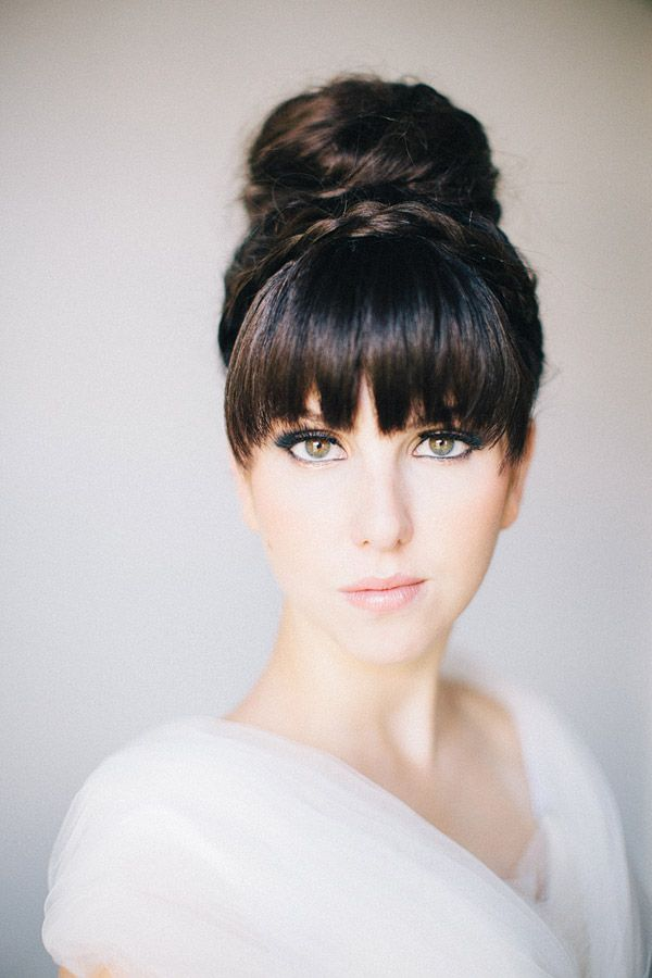 15 Gorgeous Bridal Hair With Bangs Pretty Designs