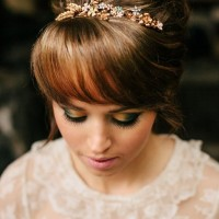Updo with Wispy Bangs